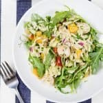 shrimp orzo summer salad