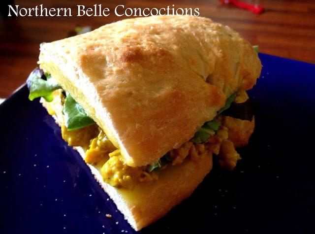 Curried Chicken Sandwich - Northern Belle Diaries