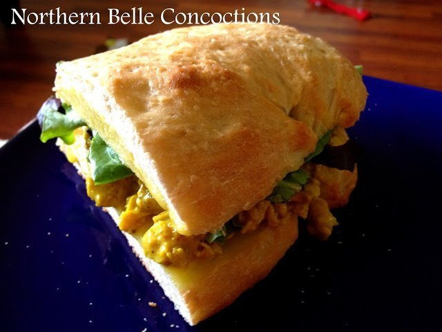 Curried Chicken Sandwich - Northern Belle Diaries