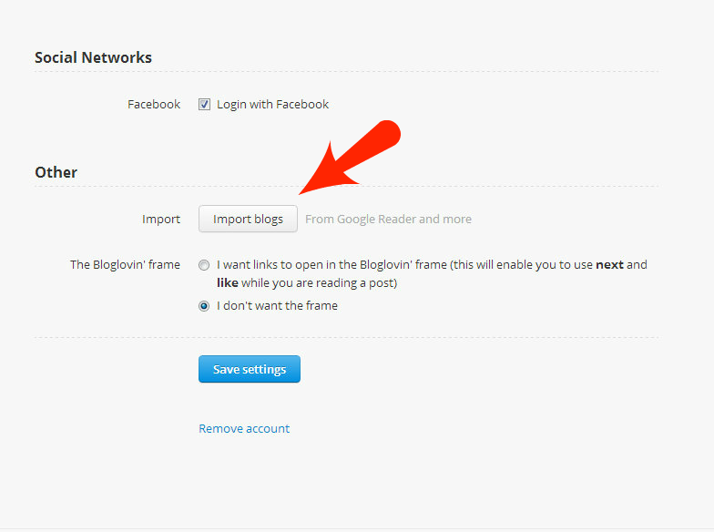 How to import the blogs in your Google Reader into Bloglovin'