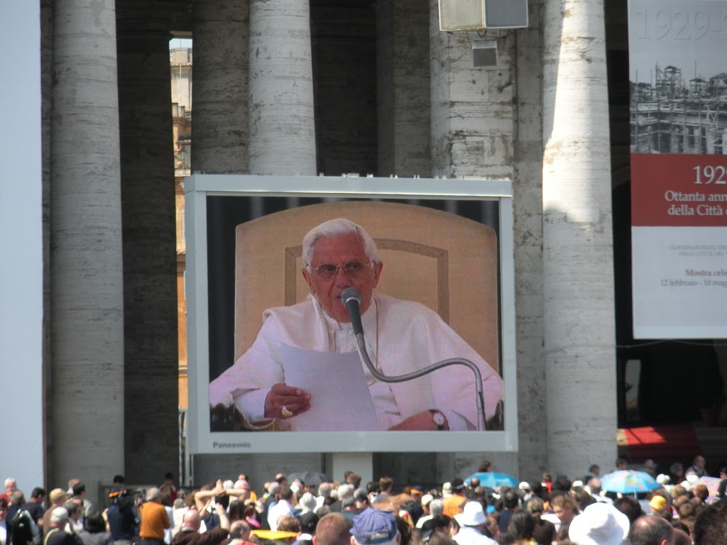 Pope Benedict in St. Peter's square