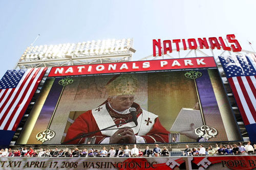 Papal Mass at Nationals Park, Pope Benedict in D.C.