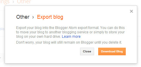 How to back-up your Blogger posts and why it's important