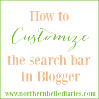 How to Customize your Search Bar in Blogger