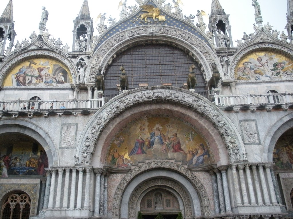 Facade of St. Mark's in Venice Italy