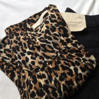 leopard and dark wash jeans from LOFT