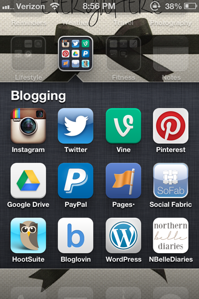 Blogging icons