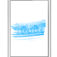 just breathe - freebie iPhone