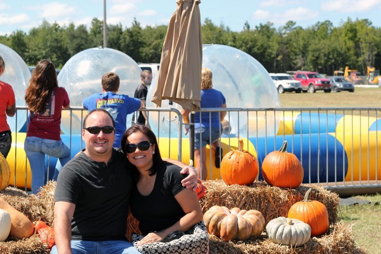 pumpkins and hay oktoberfest