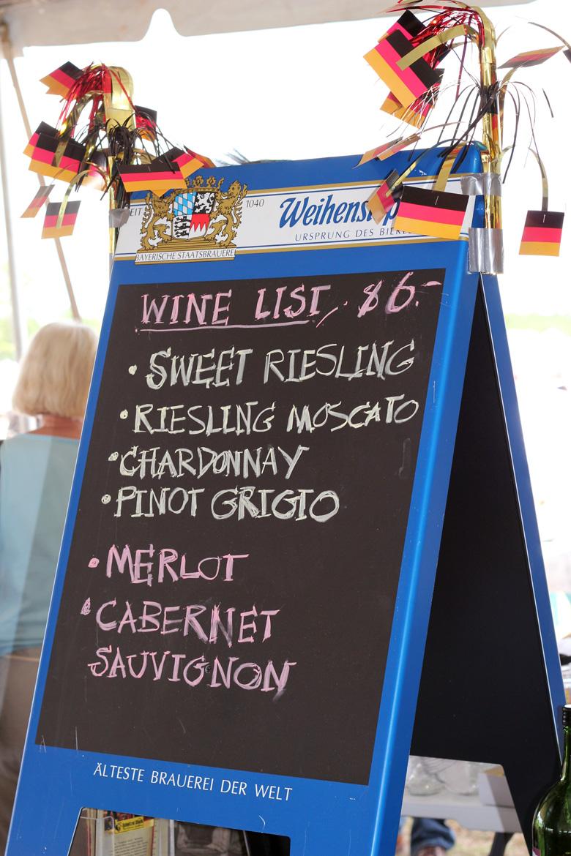 wine at Oktoberfest 2013