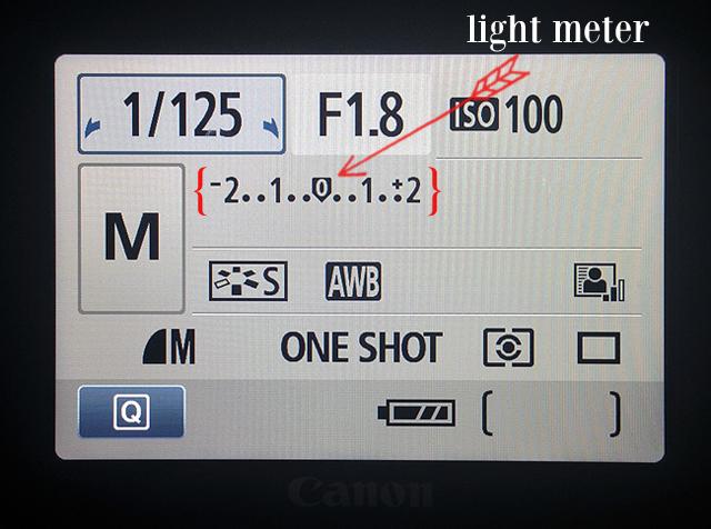 Canon Rebel EOS light meter