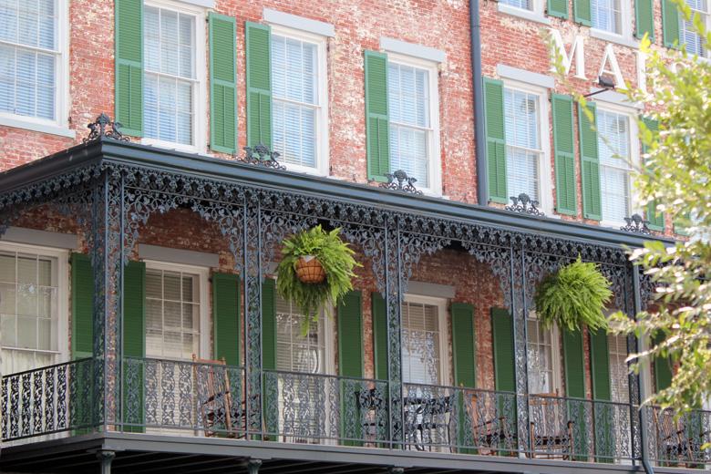 marshall house balcony Savannah GA