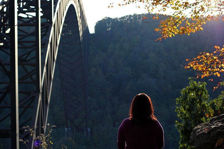 overlooking the New River Gorge WV