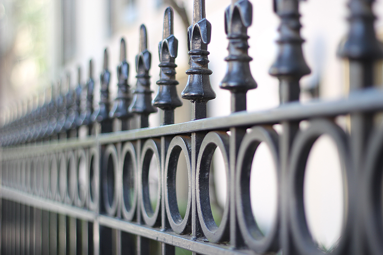 wrought iron fence Savannah