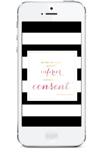 inferior without consent for #iphone #quote #wallpaper #freebie
