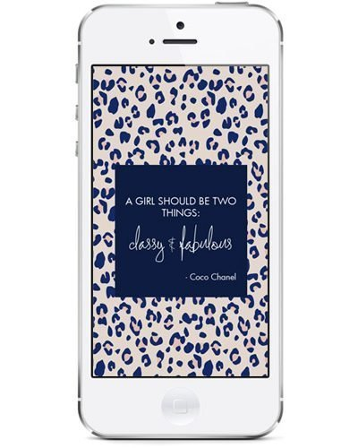a girl should be two things classy and fabulous #quotes #freebie #download