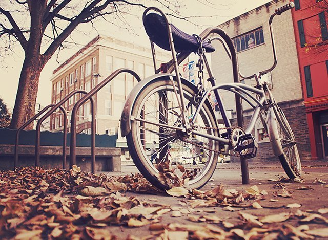 bike in urban city