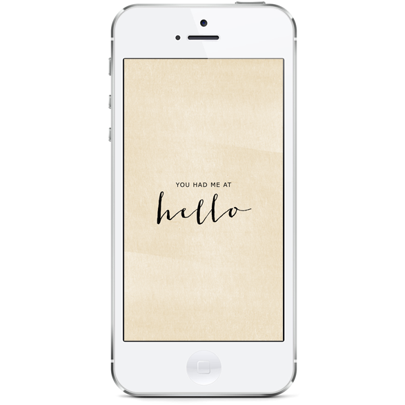 you had me at hello iphone
