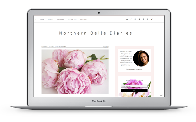 northern belle diaries design by High Note Designs