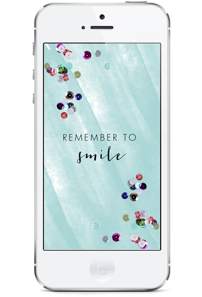 """""""Remember to Smile"""" freebie for iphone"""
