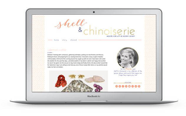 shellchinoiserie design by high note designs