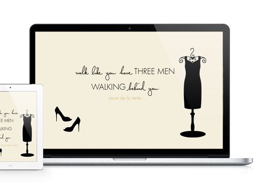 Walk Like You Have Three Men Walking Behind You wallpaper for MacBook, iPad and iPhone
