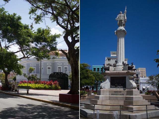 Cristobal Colon Square on Calle San Francisco