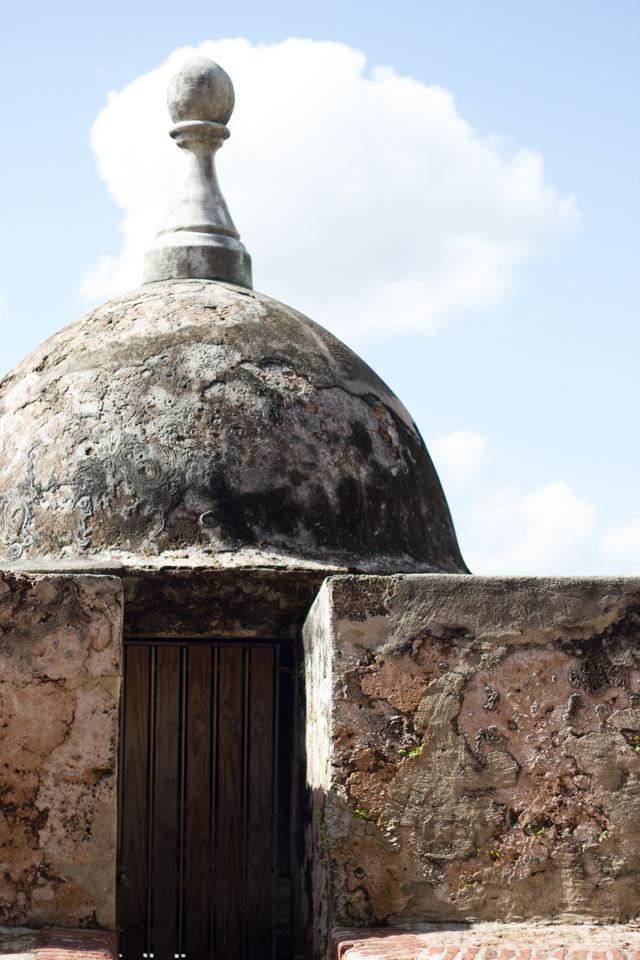 door of the Bastion de las Palmas de San Jose in Old San Juan Puerto Rico