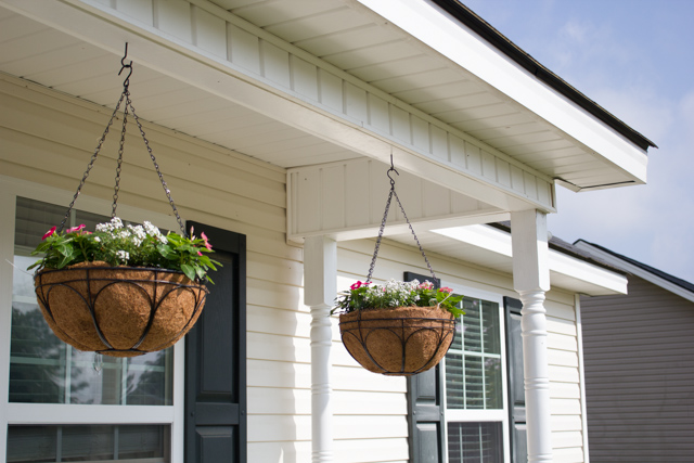 hanging baskets front