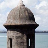 sentry tower of city walls of Old San Juan Puerto Rico