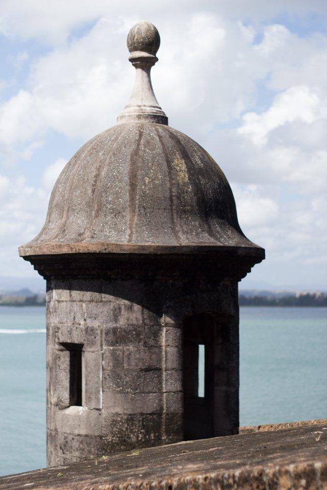 sentry tower of city walls of Old San Juan Puerto Rico