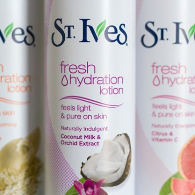 Fast Moisturizing with St. Ives