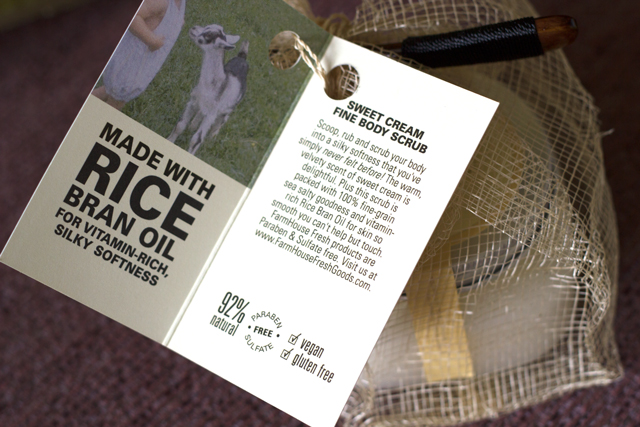 FarmHouse Fresh Body Scrub Ingredients