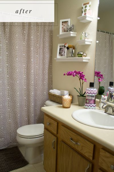 guest bathroom makeover: after