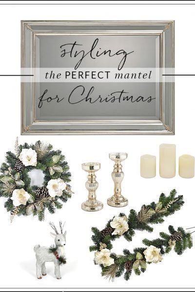 The Perfect White and Gold Mantel for Christmas