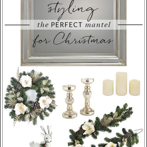 Building the Perfect White and Gold Christmas Mantel #ad #BestDressedHome