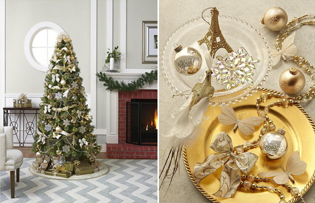 #ad Sandra by Sandra Lee 76-Piece Complete Christmas Tree Trim Kit - Gilded Gatherings Theme #BestDressedHome