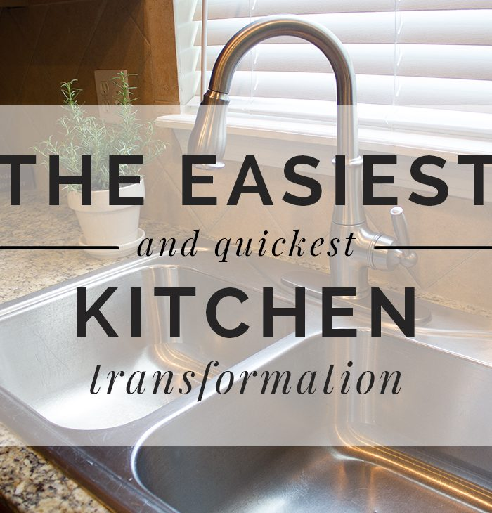 The Easiest (and Quickest!) Kitchen Transformation