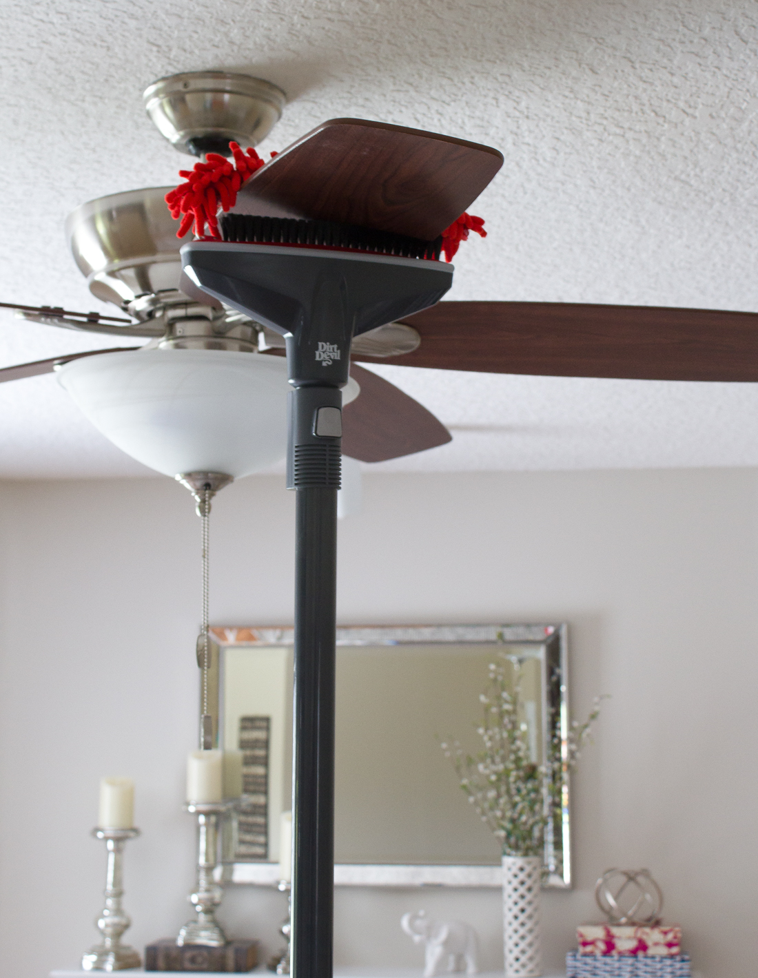 Easiest and quickest way to clean ceiling fan blades #ad #DirtDevil360Clean