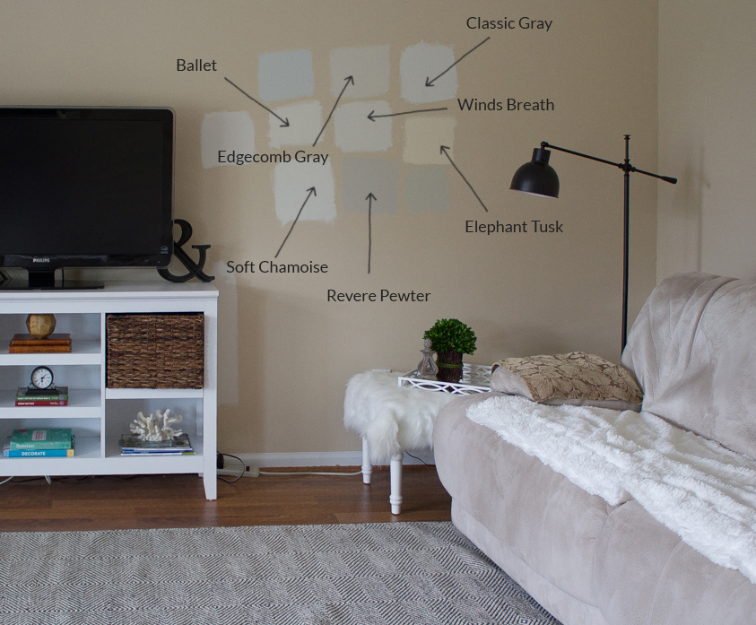 Benjamin Moore paint colors in living room detail