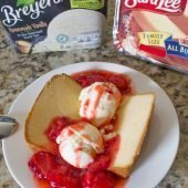 Poundcake and strawberries #EasySimpleSweet #ad