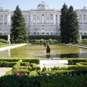 Palacio Real gardens, Madrid, Spain