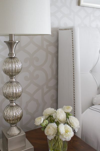 Tone-on-Tone Stenciled Wall + Giveaway
