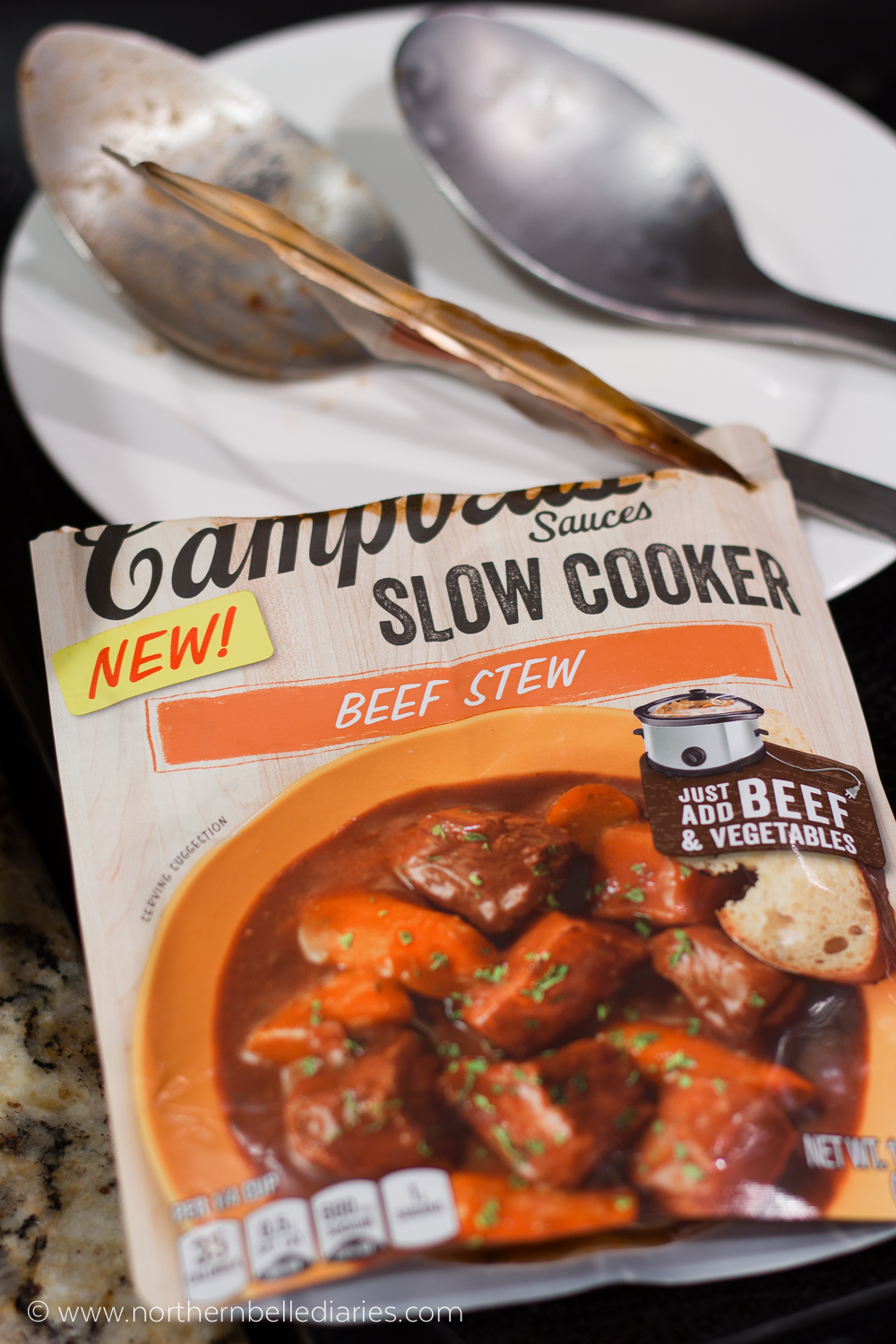 Campbell Slow Cooker beef stew sauce #CampbellSauces #ad