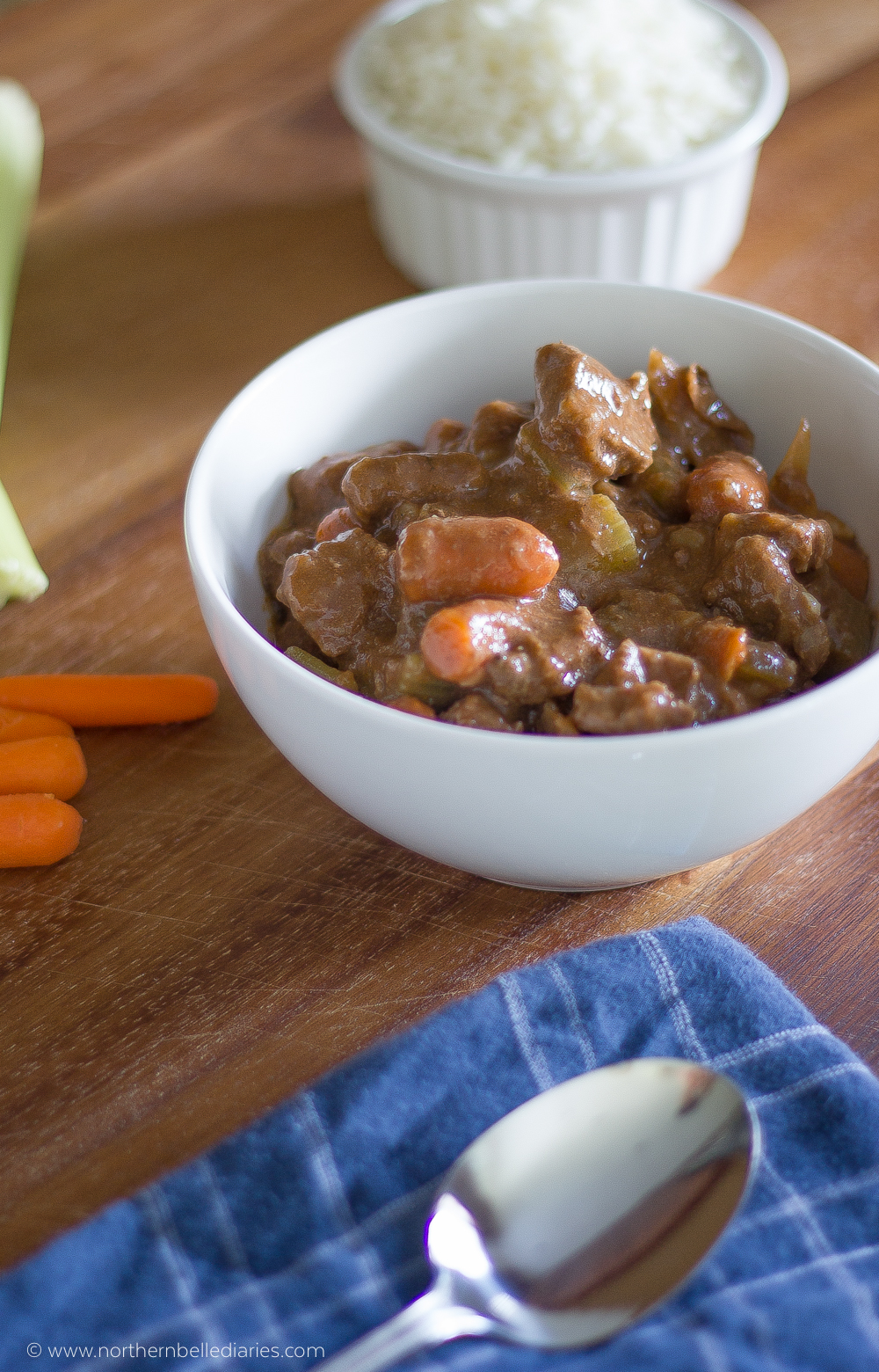 Campbell Slow Cooker beef stew #CampbellSauces #ad