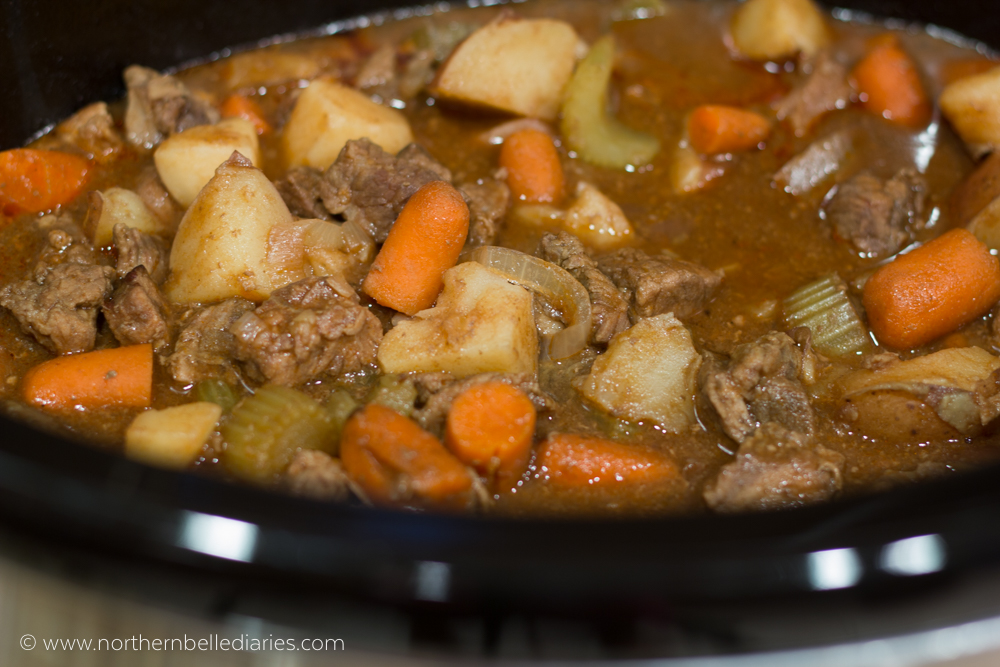 Campbell Slow Cooker beef stew crockpot #CampbellSauces #ad