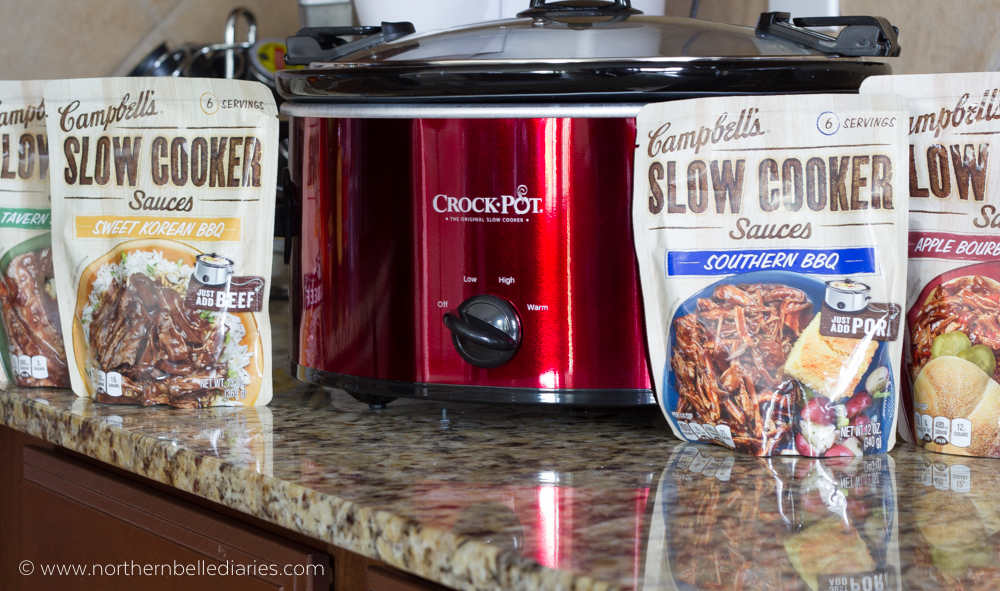 Crockpot and Campbell Slower Cooker sauces #ad #CampbellSauces