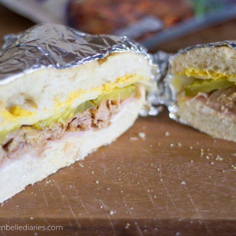 Cuban style sandwich #CampbellSauces Hawaiian Pork #ad