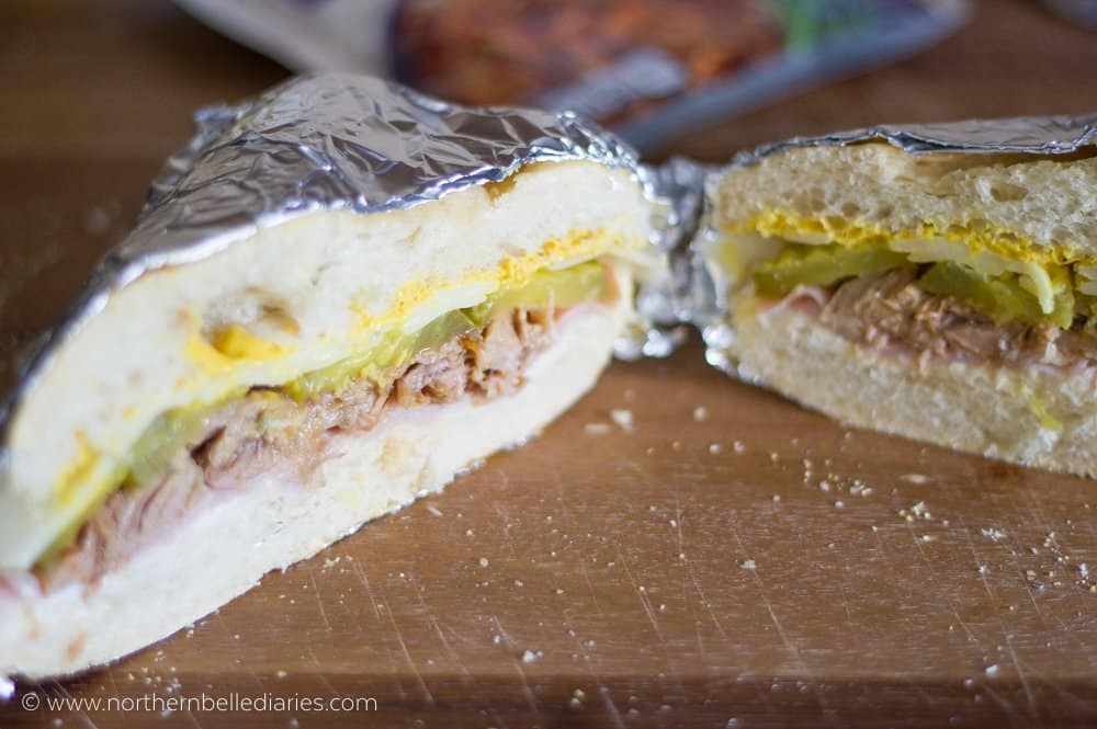 Cuban style sandwich #CampbellSauces Hawaiian Pork #ad