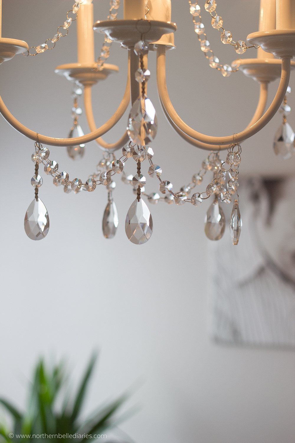 You can make your own DIY crystal chandelier. This site shows you how! #easydiy #diy #decor #chandelier
